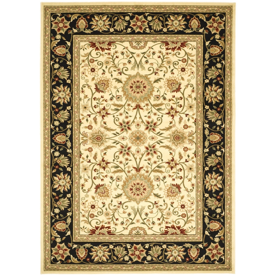 Safavieh Lyndhurst Sarouk Ivory/Black Rectangular Indoor Machine-made Oriental Area Rug (Common: 5 x 7; Actual: 5.25-ft W x 7.5-ft L)