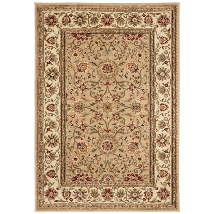 Safavieh Lyndhurst Sarouk Beige/Ivory Indoor Oriental Area Rug (Common: 5 x 8; Actual: 5.25-ft W x 7.5-ft L)