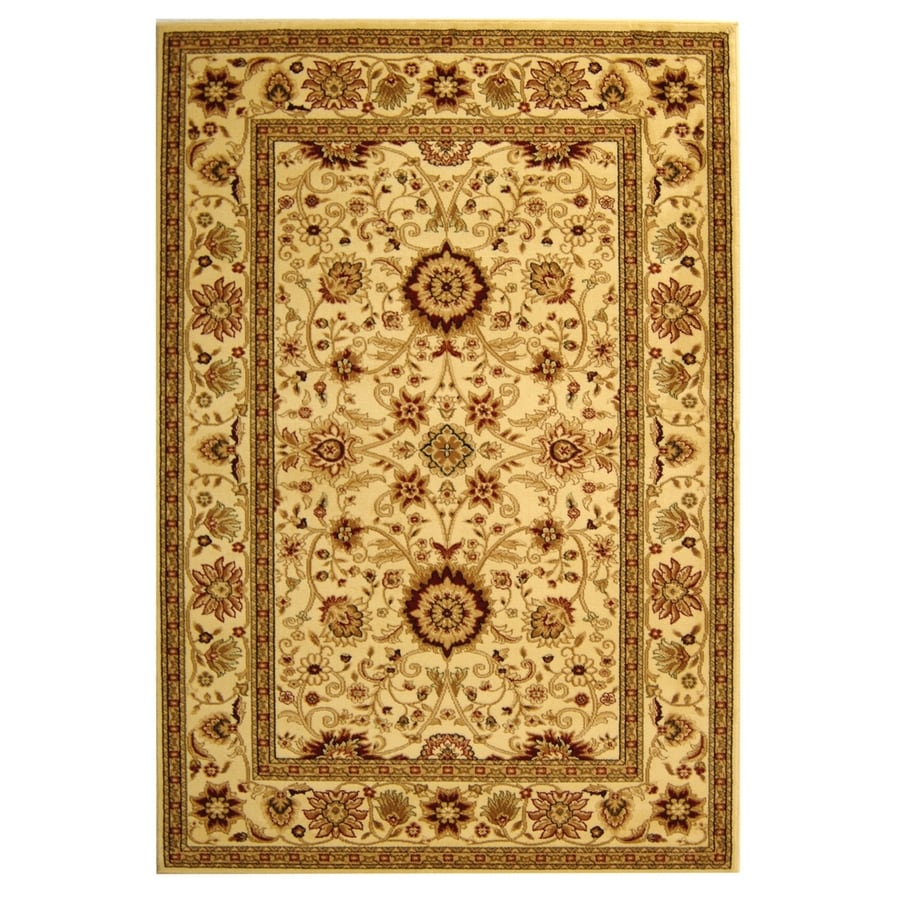Safavieh Lyndhurst Sarouk Ivory/Ivory Rectangular Indoor Machine-made Oriental Area Rug (Common: 5 x 7; Actual: 5.25-ft W x 7.5-ft L)