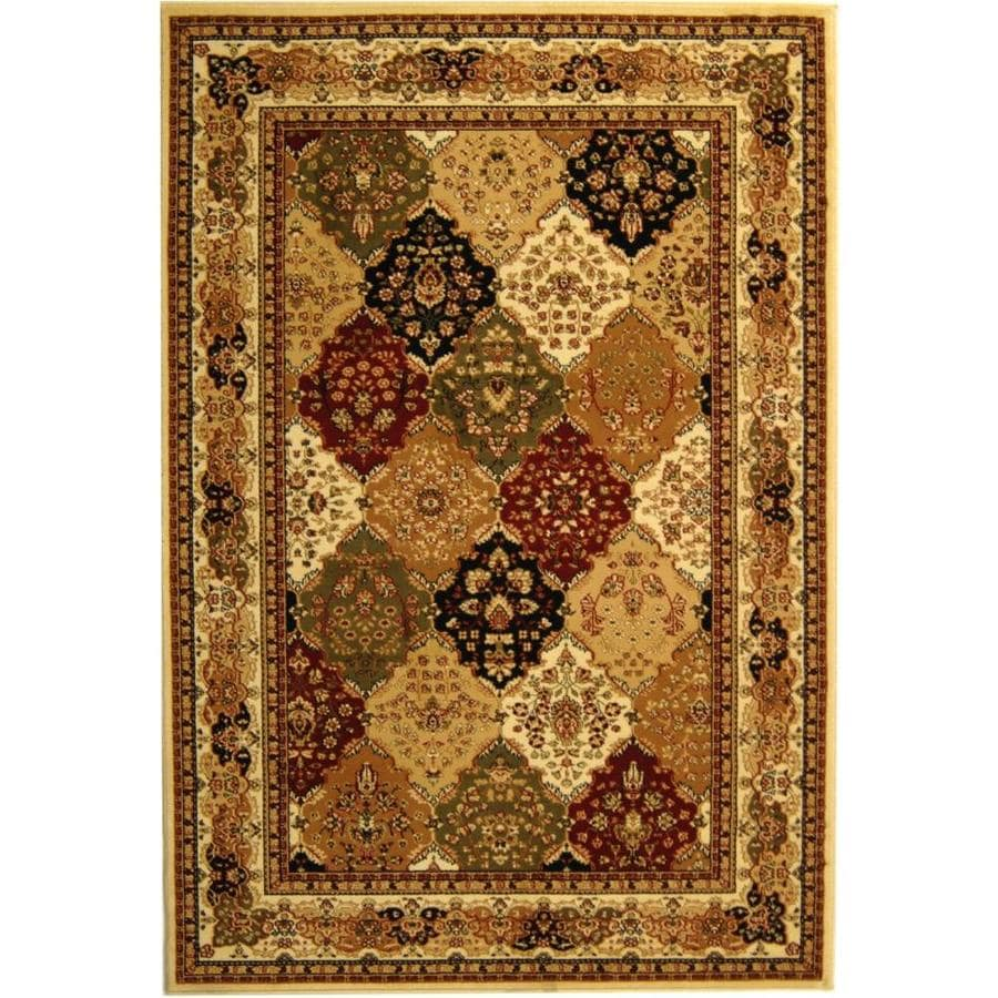 Safavieh Lyndhurst Diamond Baktiari Ivory Indoor Oriental Area Rug (Common: 5 x 8; Actual: 5.25-ft W x 7.5-ft L)