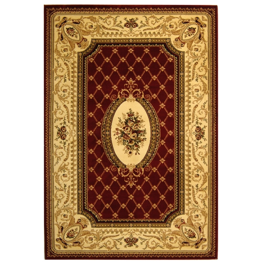 Safavieh Lyndhurst Seville Red/Ivory Indoor Oriental Area Rug (Common: 5 x 8; Actual: 5.25-ft W x 7.5-ft L)