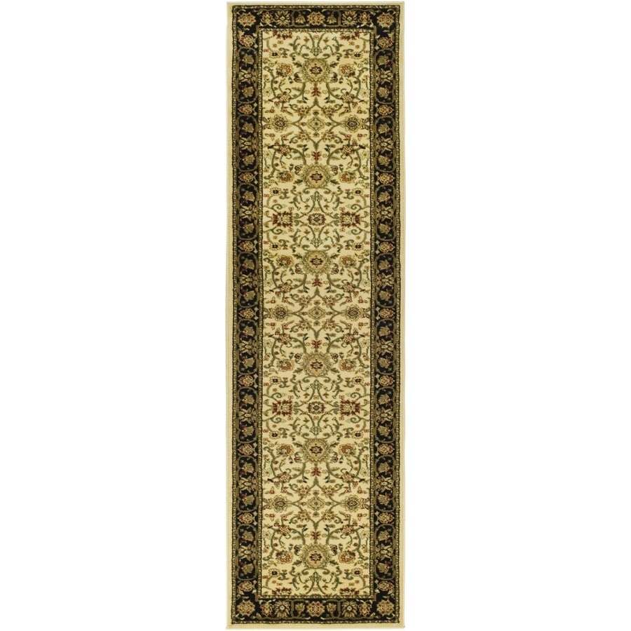 Safavieh Lyndhurst Sarouk Ivory/Black Indoor Oriental Runner (Common: 2 x 14; Actual: 2.25-ft W x 14-ft L)