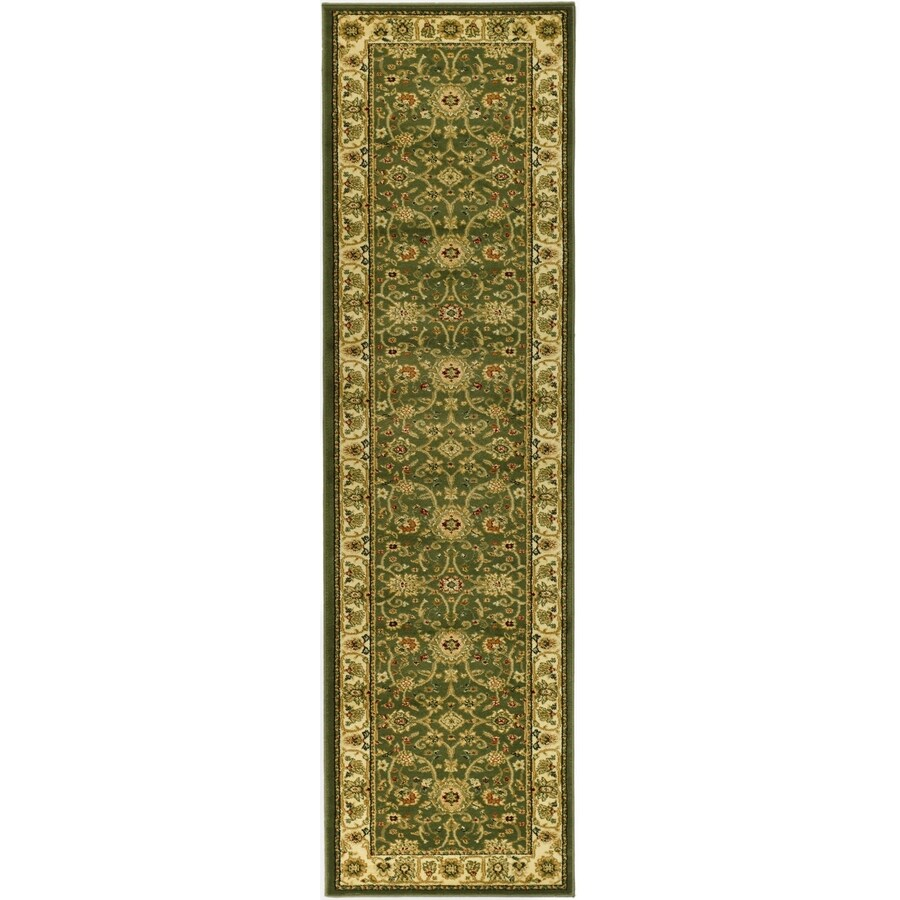 Safavieh Lyndhurst Sarouk Sage/Ivory Rectangular Indoor Machine-made Oriental Runner (Common: 2 x 14; Actual: 2.25-ft W x 14-ft L)