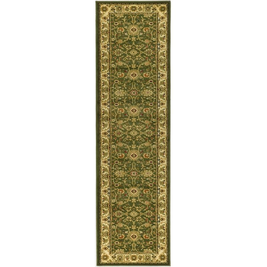 Safavieh Lyndhurst Sarouk Sage/Ivory Indoor Oriental Runner (Common: 2 x 8; Actual: 2.25-ft W x 8-ft L)