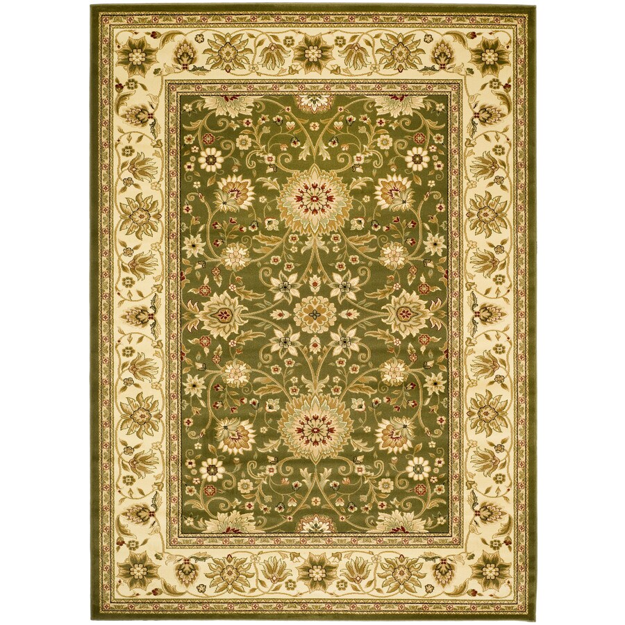 Safavieh Lyndhurst Sarouk Sage/Ivory Indoor Oriental Area Rug (Common: 6 x 9; Actual: 6-ft W x 9-ft L)