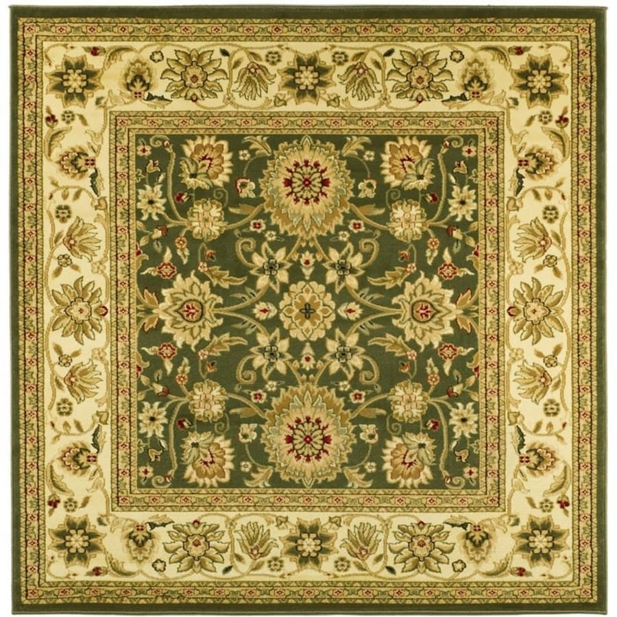 Safavieh Lyndhurst Sarouk Sage/Ivory Square Indoor Oriental Area Rug (Common: 6 x 6; Actual: 6-ft W x 6-ft L)