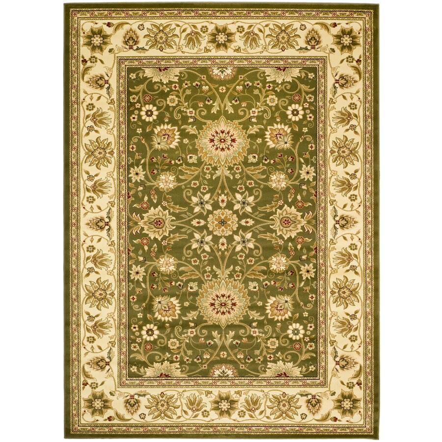 Safavieh Lyndhurst Sarouk Sage/Ivory Indoor Oriental Area Rug (Common: 8 x 11; Actual: 8-ft W x 11-ft L)