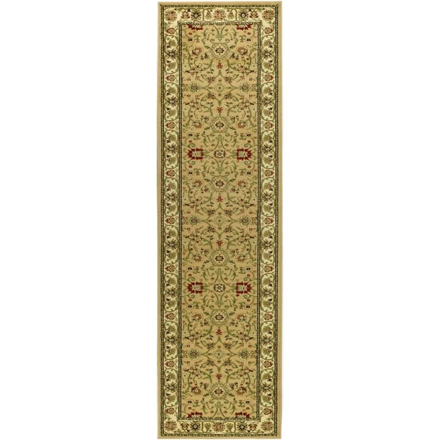 Safavieh Lyndhurst Sarouk Beige/Ivory Rectangular Indoor Machine-made Oriental Runner (Common: 2 x 12; Actual: 2.25-ft W x 12-ft L)