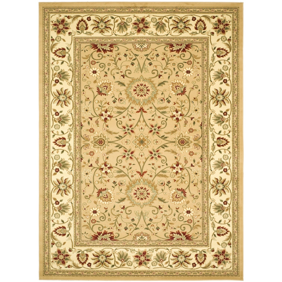 Safavieh Lyndhurst Sarouk Beige/Ivory Rectangular Indoor Machine-made Oriental Area Rug (Common: 8 x 11; Actual: 8-ft W x 11-ft L)