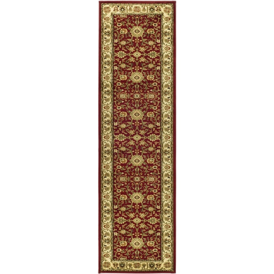 Safavieh Lyndhurst Red and Ivory Rectangular Indoor Machine-Made Runner (Common: 2 x 14; Actual: 27-in W x 168-in L x 0.42-ft Dia)