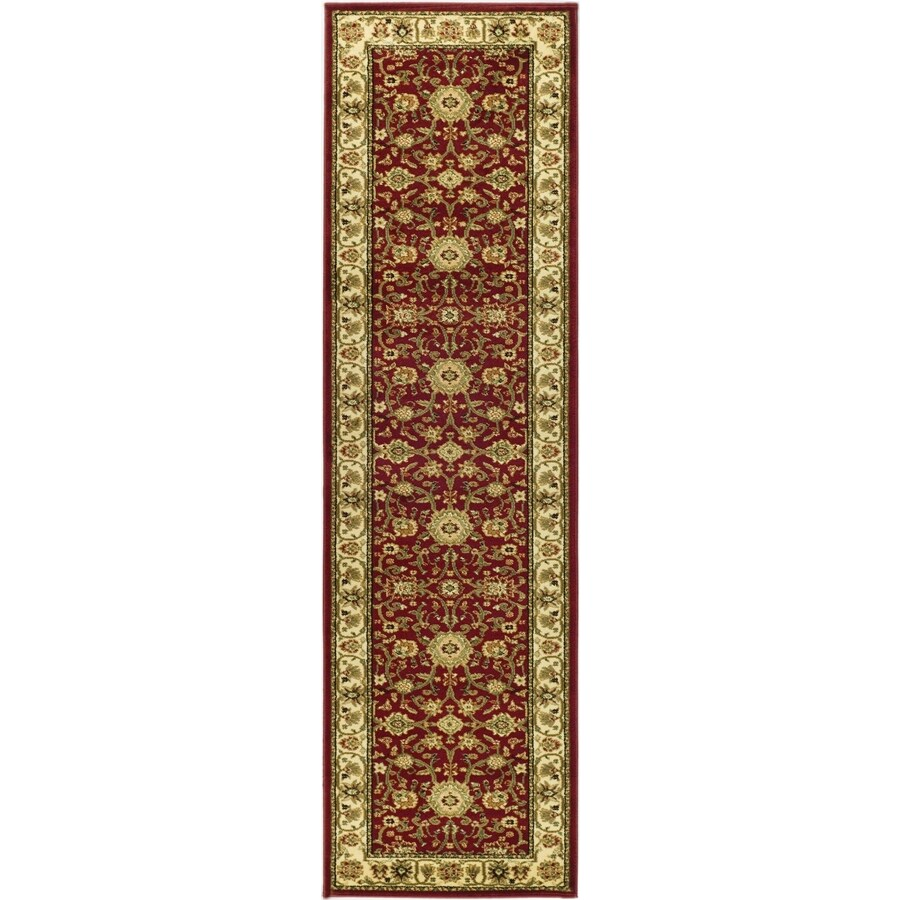 Safavieh Lyndhurst Sarouk Red/Ivory Indoor Oriental Runner (Common: 2 x 8; Actual: 2.25-ft W x 8-ft L)