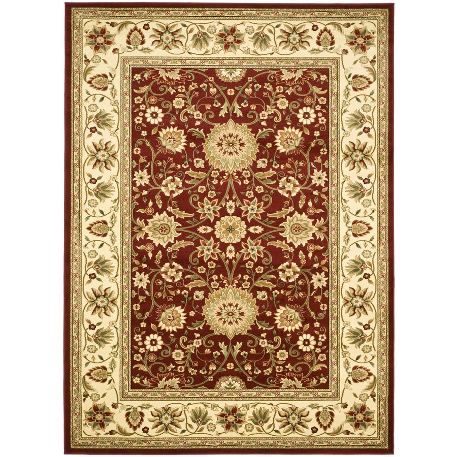 Safavieh Lyndhurst Sarouk Red/Ivory Rectangular Indoor Machine-made Oriental Area Rug (Common: 6 x 9; Actual: 6-ft W x 9-ft L)