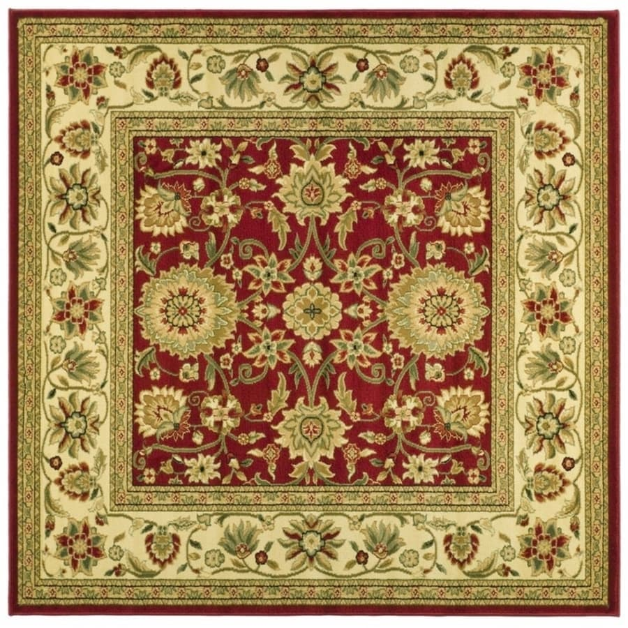 Safavieh Lyndhurst Red/Ivory Square Indoor Machine-Made Oriental Area Rug (Common: 6 x 6; Actual: 6-ft W x 6-ft L)