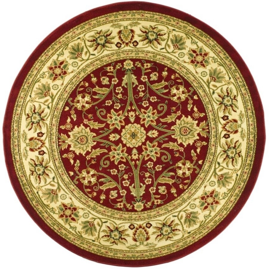 Safavieh Lyndhurst Sarouk Red/Ivory Round Indoor Oriental Area Rug (Common: 8 x 8; Actual: 8-ft W x 8-ft L x 8-ft dia)