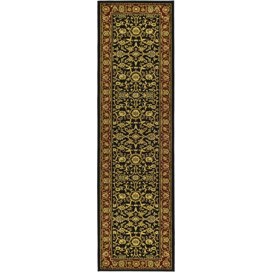 Safavieh Lyndhurst Sarouk Black/Red Rectangular Indoor Machine-made Oriental Runner (Common: 2 x 14; Actual: 2.25-ft W x 14-ft L)