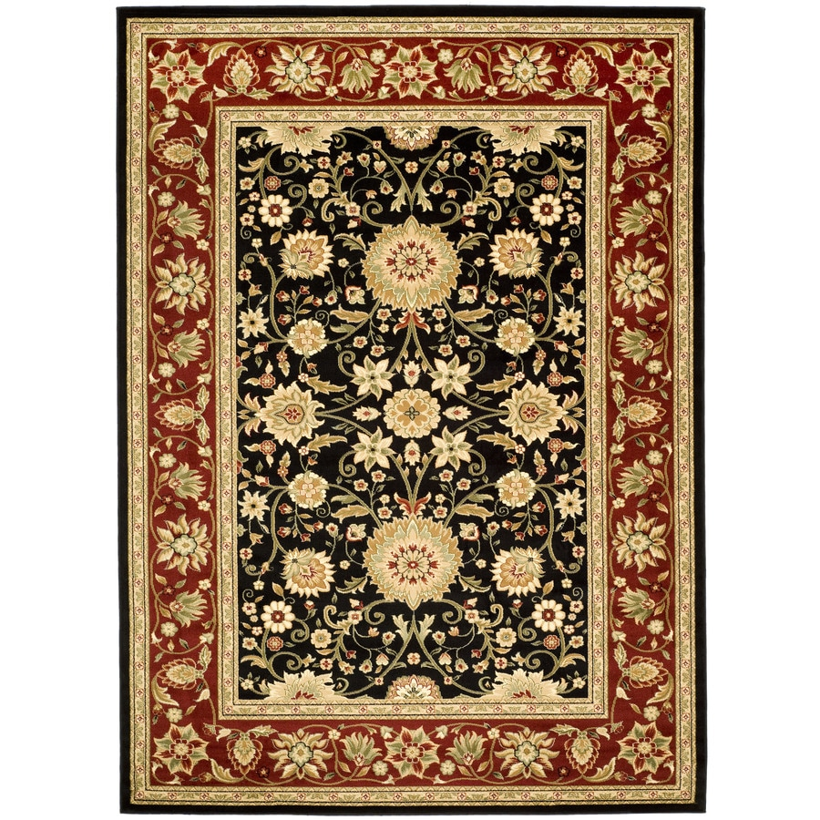 Safavieh Lyndhurst Black and Red Rectangular Indoor Machine-Made Area Rug (Common: 6 x 9; Actual: 72-in W x 96-in L x 0.58-ft Dia)