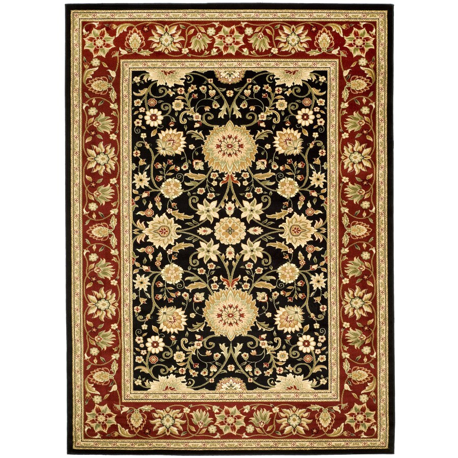 Safavieh Lyndhurst Sarouk Black/Red Indoor Oriental Area Rug (Common: 8 x 11; Actual: 8-ft W x 11-ft L)