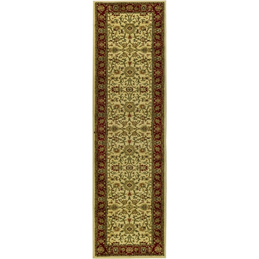Safavieh Lyndhurst Sarouk Ivory/Red Indoor Oriental Runner (Common: 2 x 14; Actual: 2.25-ft W x 14-ft L)