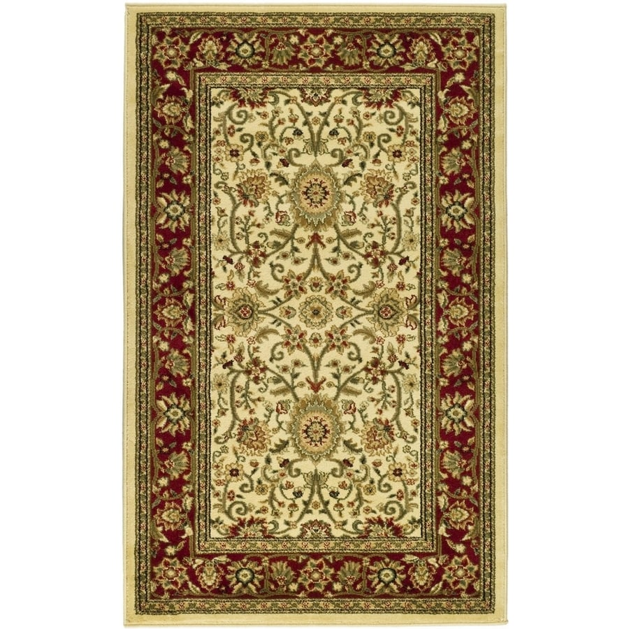 Safavieh Lyndhurst Sarouk Ivory/Red Indoor Oriental Throw Rug (Common: 3 x 5; Actual: 3.25-ft W x 5.25-ft L)