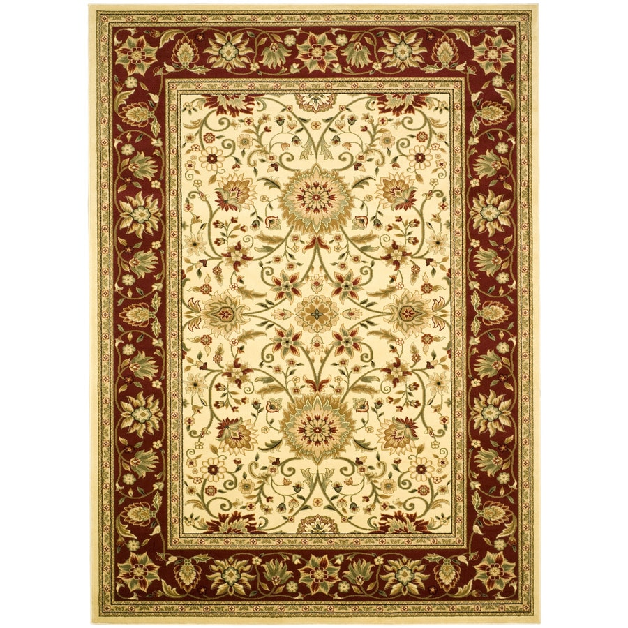 Safavieh Lyndhurst Sarouk Ivory/Red Indoor Oriental Area Rug (Common: 6 x 9; Actual: 6-ft W x 9-ft L)