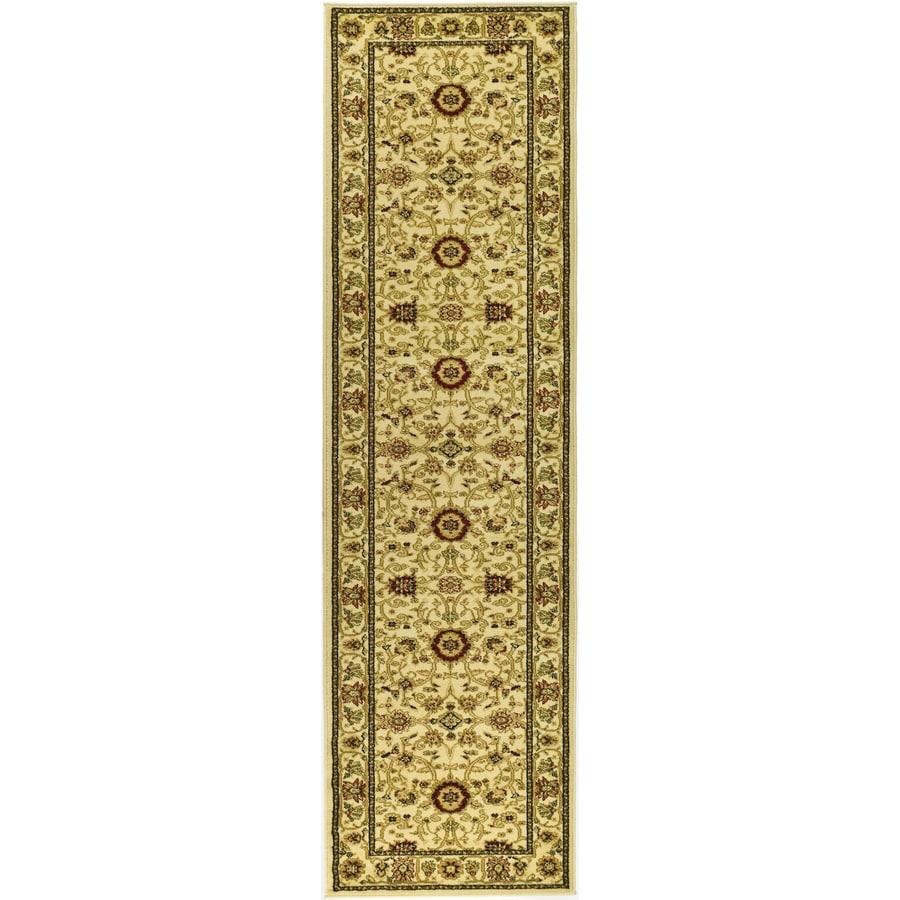 Safavieh Lyndhurst Sarouk Ivory Indoor Oriental Runner (Common: 2 x 14; Actual: 2.25-ft W x 14-ft L)