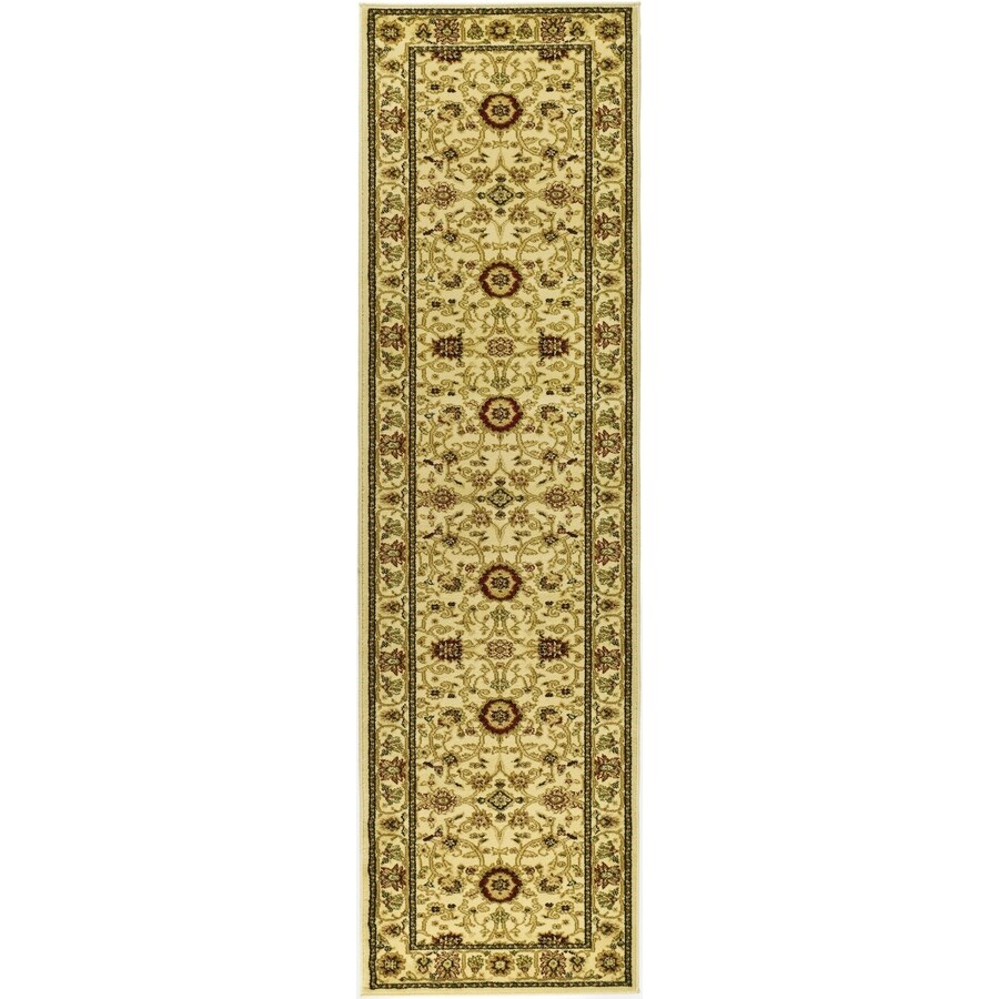 Safavieh Lyndhurst Sarouk Ivory Indoor Oriental Runner (Common: 2 x 8; Actual: 2.25-ft W x 8-ft L)