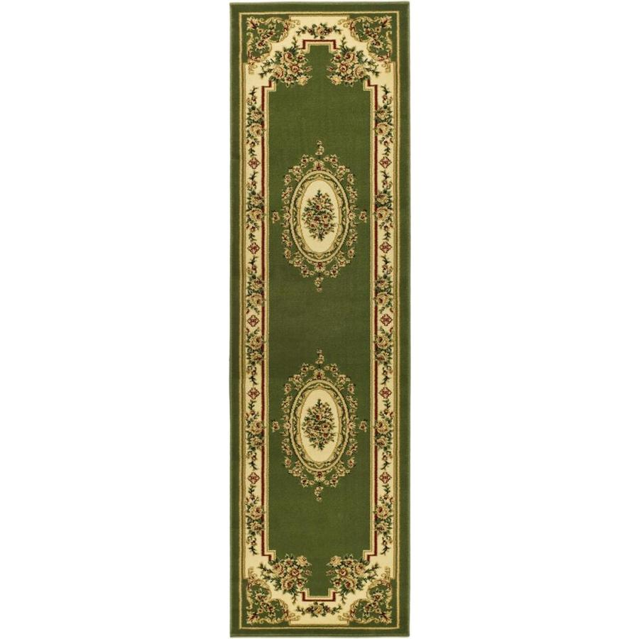 Safavieh Lyndhurst Sage/Ivory Rectangular Indoor Machine-Made Oriental Runner (Common: 2X8; Actual: 2.25-ft W x 8-ft L)