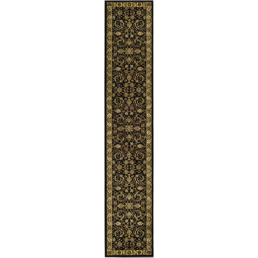 Safavieh Lyndhurst Lavar Black/Ivory Indoor Oriental Runner (Common: 2 x 14; Actual: 2.25-ft W x 14-ft L)