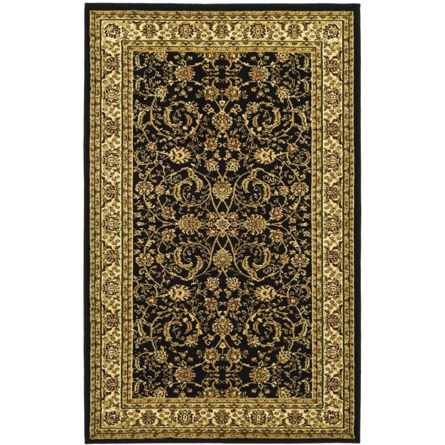 Safavieh Lyndhurst Lavar Black/Ivory Indoor Oriental Throw Rug (Common: 3 x 5; Actual: 3.25-ft W x 5.25-ft L)