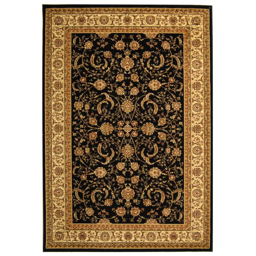 Safavieh Lyndhurst Lavar Black/Ivory Indoor Oriental Area Rug (Common: 6 x 9; Actual: 6-ft W x 9-ft L)