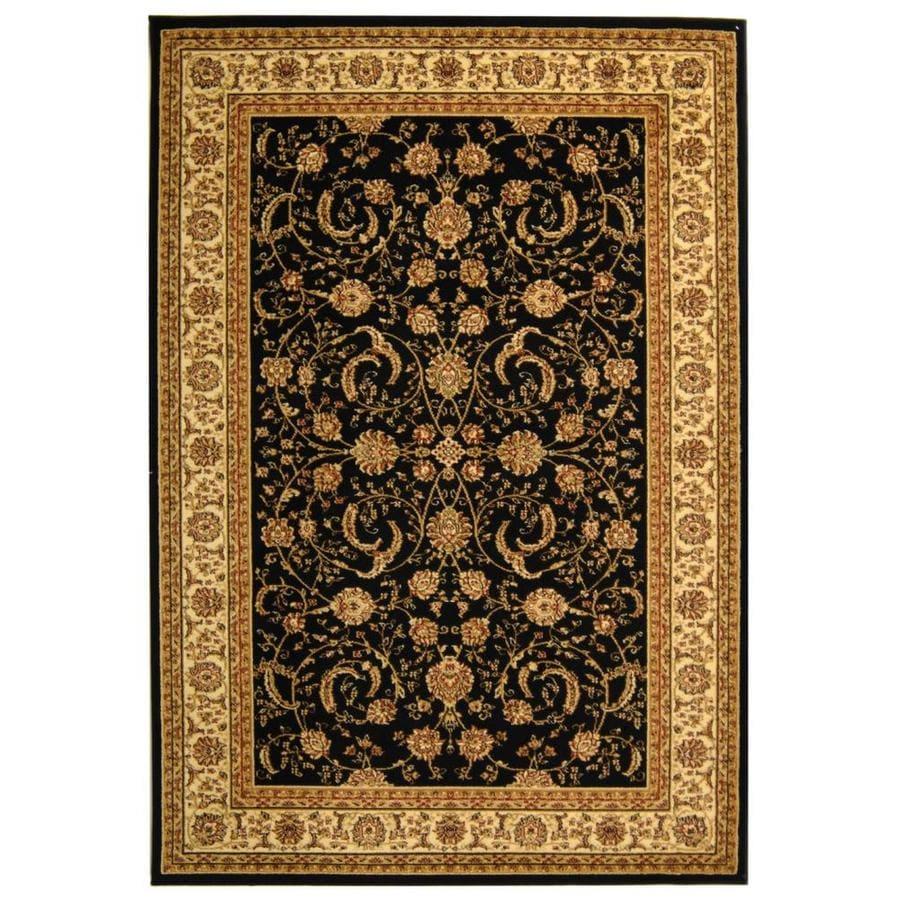 Safavieh Lyndhurst Lavar Black/Ivory Indoor Oriental Area Rug (Common: 8 x 11; Actual: 8-ft W x 11-ft L)