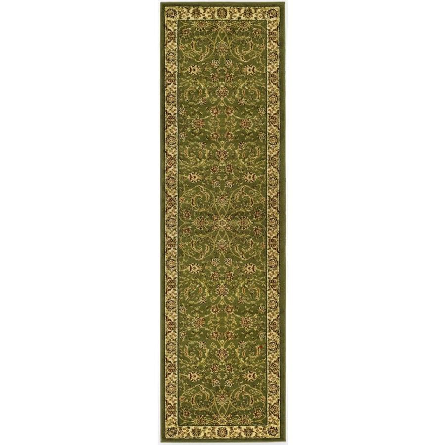 Safavieh Lyndhurst Lavar Sage/Ivory Indoor Oriental Runner (Common: 2 x 16; Actual: 2.25-ft W x 16-ft L)
