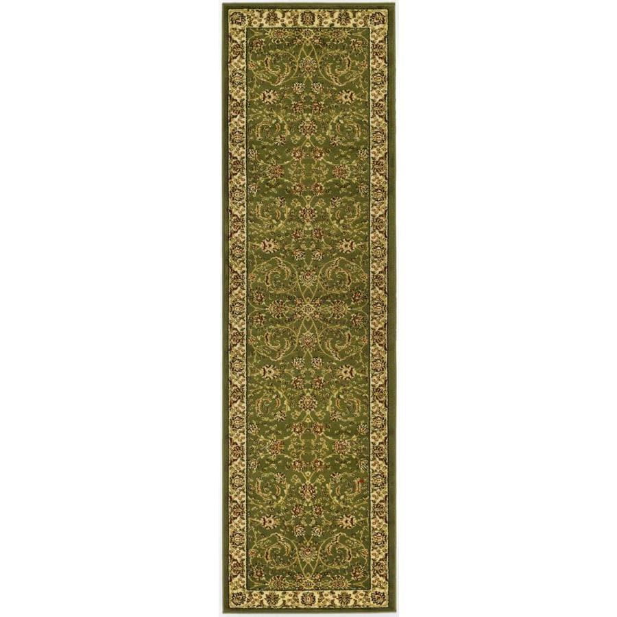 Safavieh Lyndhurst Lavar Sage/Ivory Rectangular Indoor Machine-made Oriental Runner (Common: 2 x 16; Actual: 2.25-ft W x 16-ft L)
