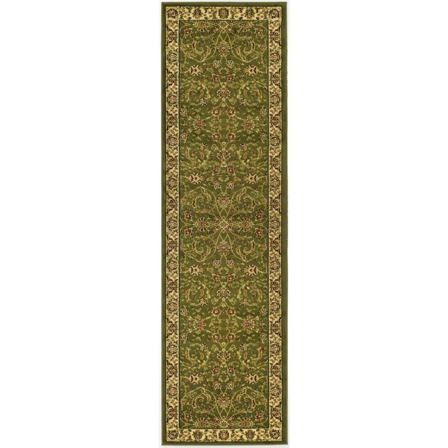 Safavieh Lyndhurst Lavar Sage/Ivory Indoor Oriental Runner (Common: 2 x 8; Actual: 2.25-ft W x 8-ft L)