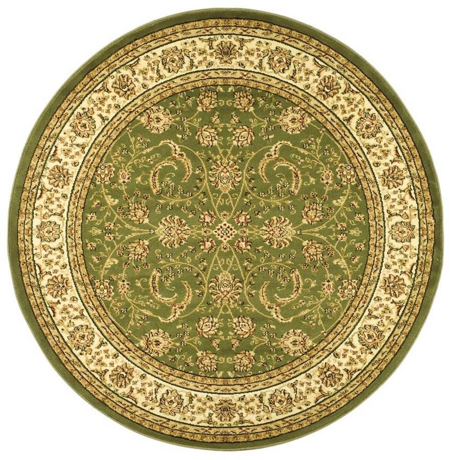 Safavieh Lyndhurst Lavar Sage/Ivory Round Indoor Machine-made Oriental Area Rug (Common: 5 x 5; Actual: 5.25-ft W x 5.25-ft L x 5.25-ft Dia)