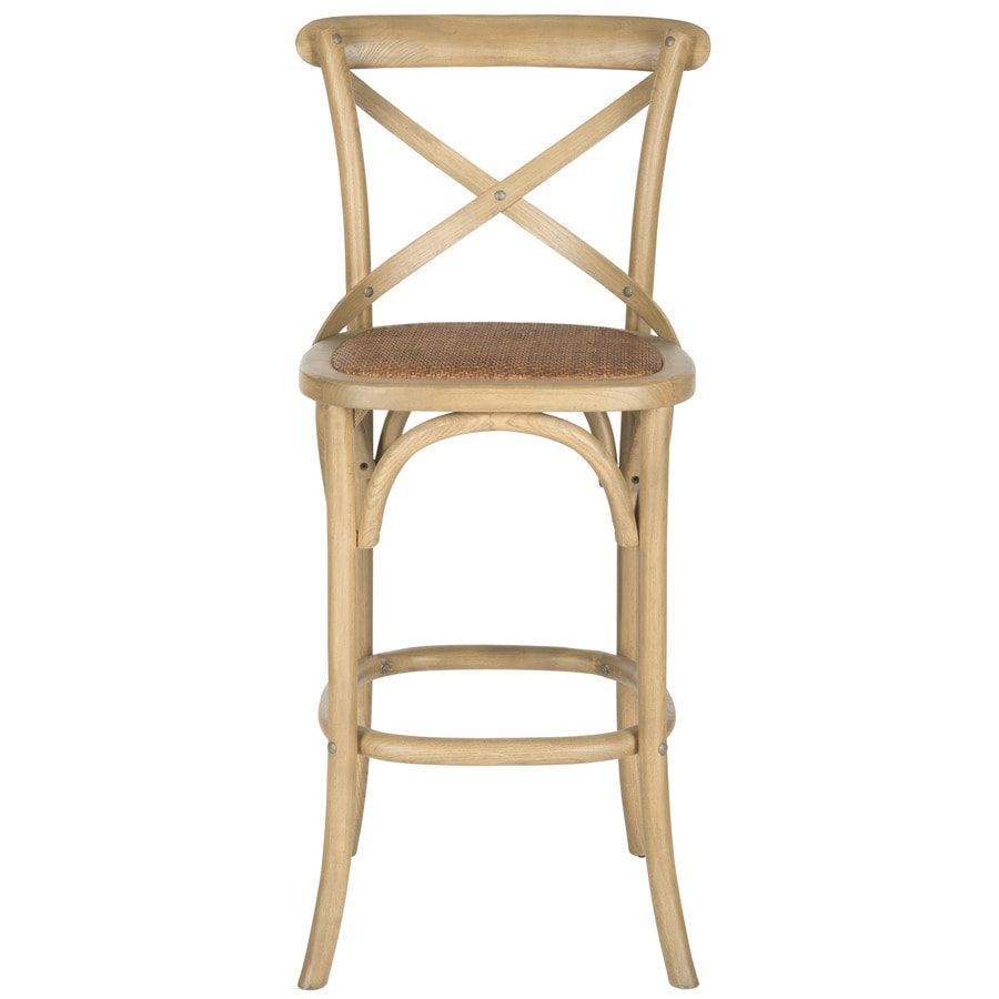 Oak Bar Stools ~ Shop safavieh franklin coastal weathered oak bar stool at