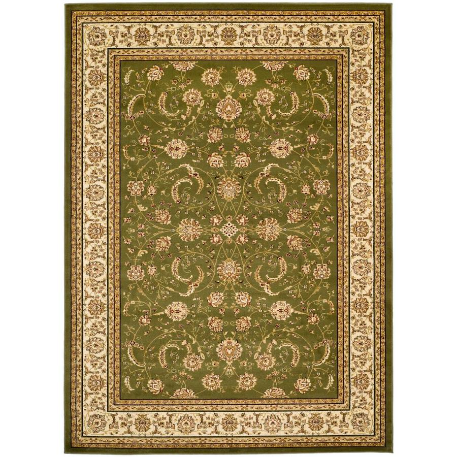 Safavieh Lyndhurst Lavar Sage/Ivory Indoor Oriental Area Rug (Common: 8 x 11; Actual: 8-ft W x 11-ft L)