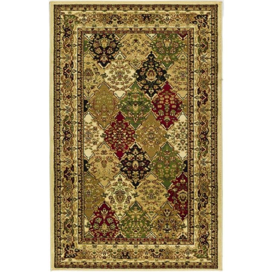 Safavieh Lyndhurst Diamond Baktiari Ivory Indoor Oriental Throw Rug (Common: 3 x 5; Actual: 3.25-ft W x 5.25-ft L)