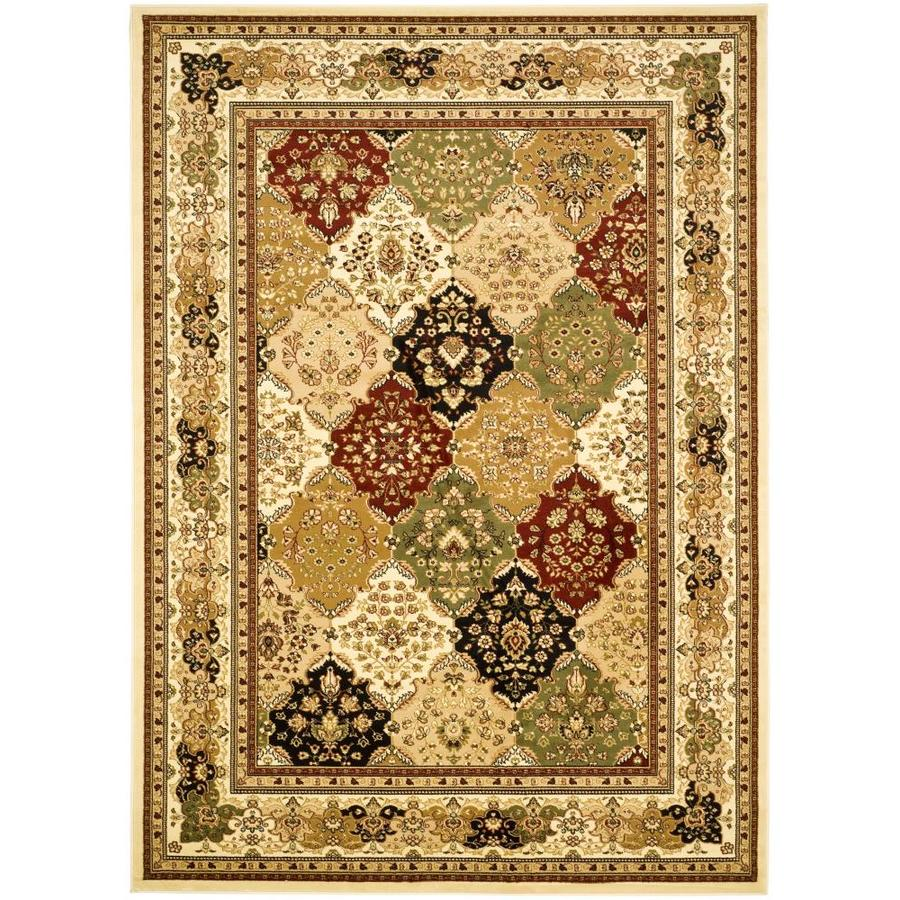 Safavieh Lyndhurst Diamond Baktiari Multi/Ivory Rectangular Indoor Machine-made Oriental Area Rug (Common: 8 x 11; Actual: 8-ft W x 11-ft L)