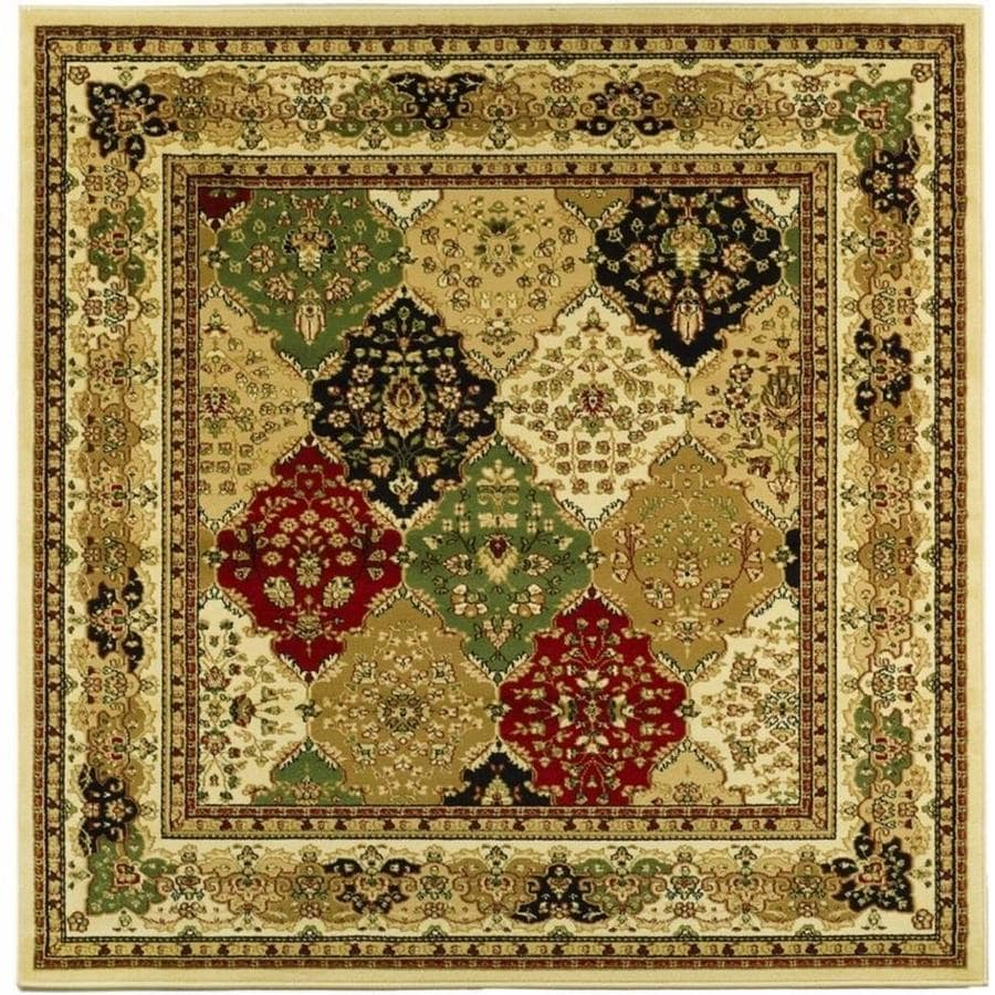 Safavieh Lyndhurst Multi/Ivory Square Indoor Machine-Made Oriental Area Rug (Common: 7.10 x 7.10; Actual: 8-ft W x 8-ft L)
