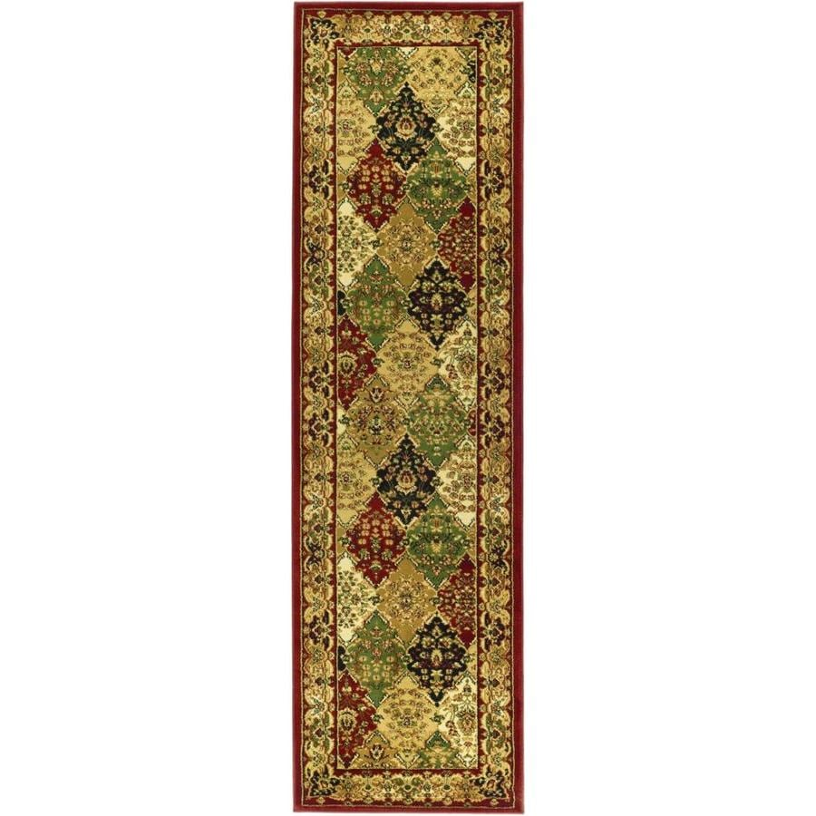 Safavieh Lyndhurst Diamond Baktiari Red Indoor Oriental Runner (Common: 2 x 12; Actual: 2.25-ft W x 12-ft L)