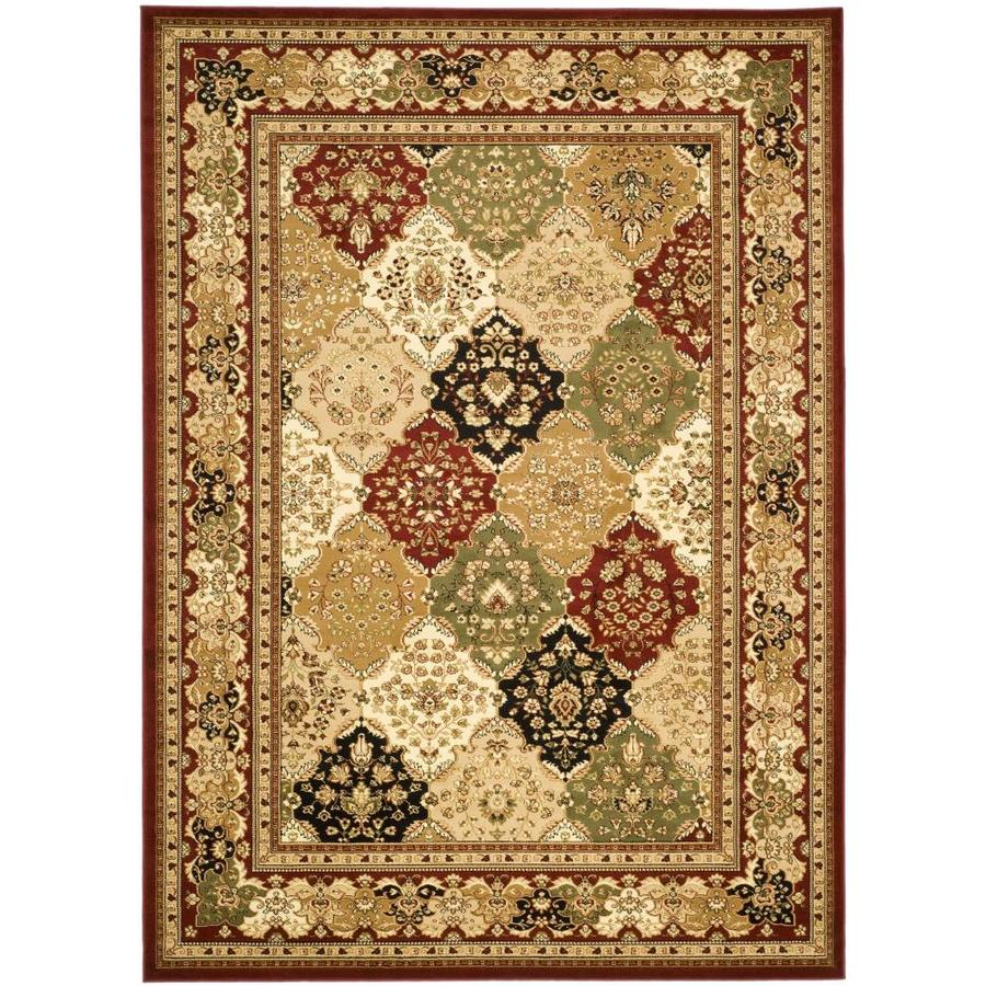 Safavieh Lyndhurst Multicolor and Red Rectangular Indoor Machine-Made Area Rug (Common: 8 x 10; Actual: 96-in W x 120-in L x 0.58-ft Dia)