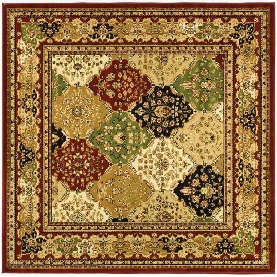 Safavieh Lyndhurst Diamond Baktiari Red Square Indoor Oriental Area Rug (Common: 8 x 8; Actual: 8-ft W x 8-ft L)