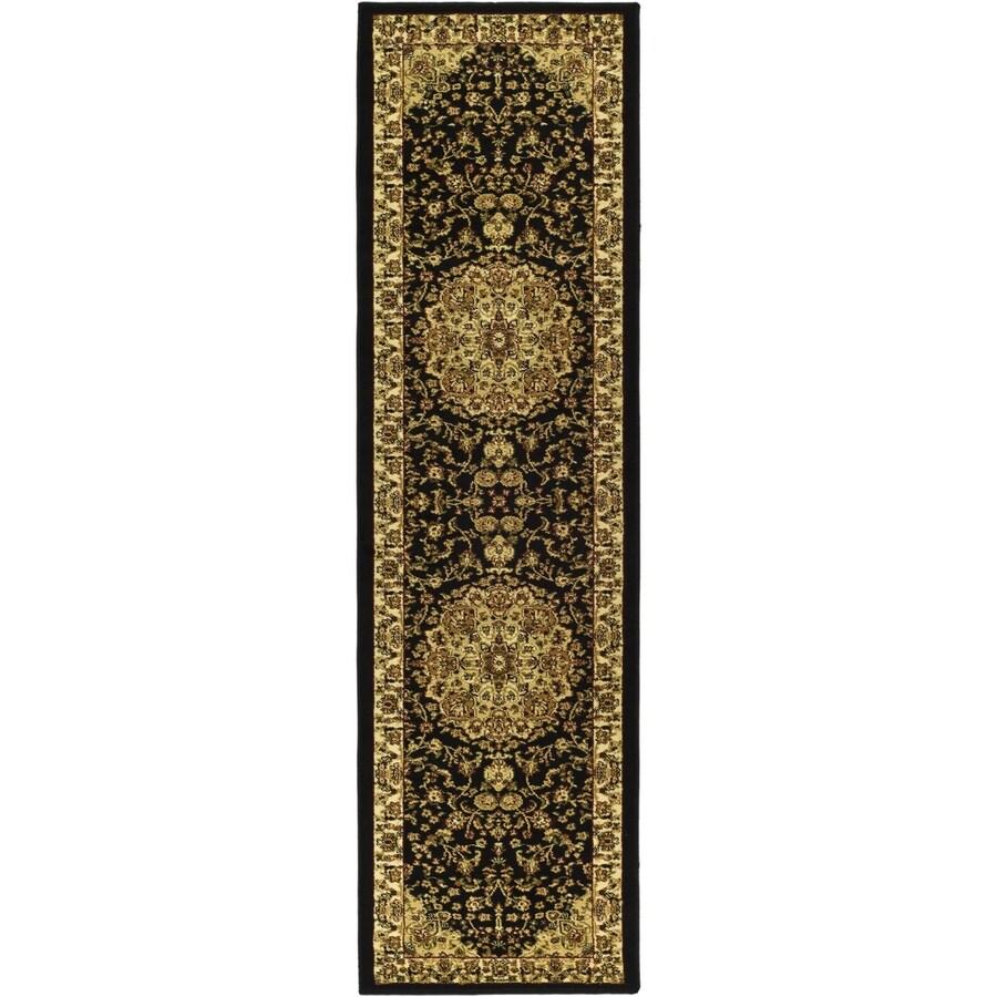 Safavieh Lyndhurst Nain Black/Ivory Indoor Oriental Runner (Common: 2 x 8; Actual: 2.25-ft W x 8-ft L)
