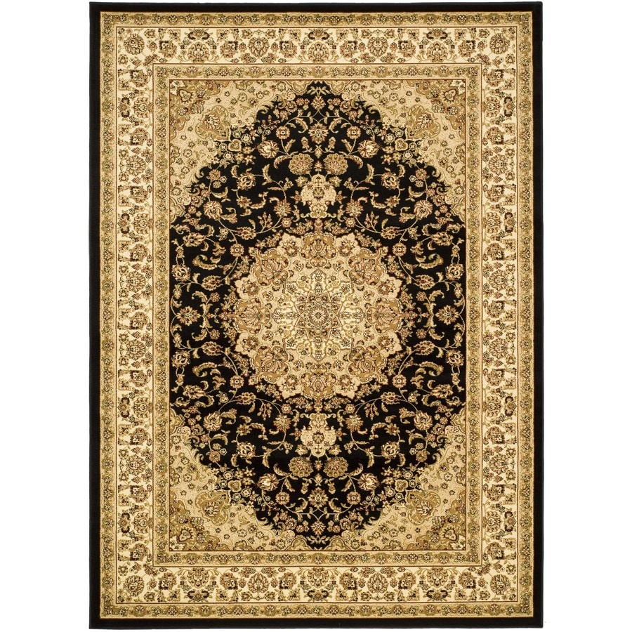 Safavieh Lyndhurst Nain Black/Ivory Rectangular Indoor Machine-made Oriental Area Rug (Common: 8 x 11; Actual: 8-ft W x 11-ft L)
