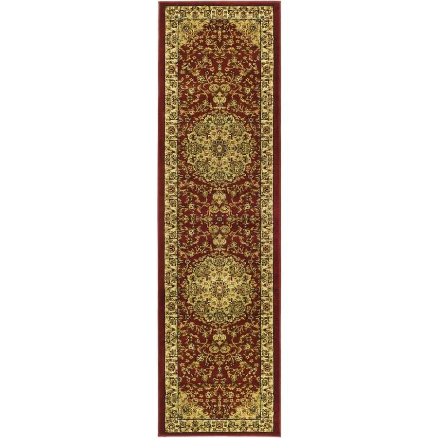 Safavieh Lyndhurst Nain Red/Ivory Rectangular Indoor Machine-made Oriental Runner (Common: 2 x 8; Actual: 2.25-ft W x 8-ft L)
