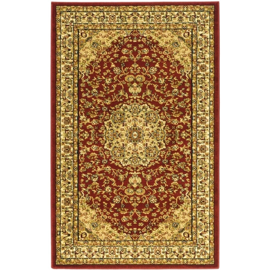 Safavieh Lyndhurst Nain Red/Ivory Indoor Oriental Throw Rug (Common: 3 x 5; Actual: 3.25-ft W x 5.25-ft L)