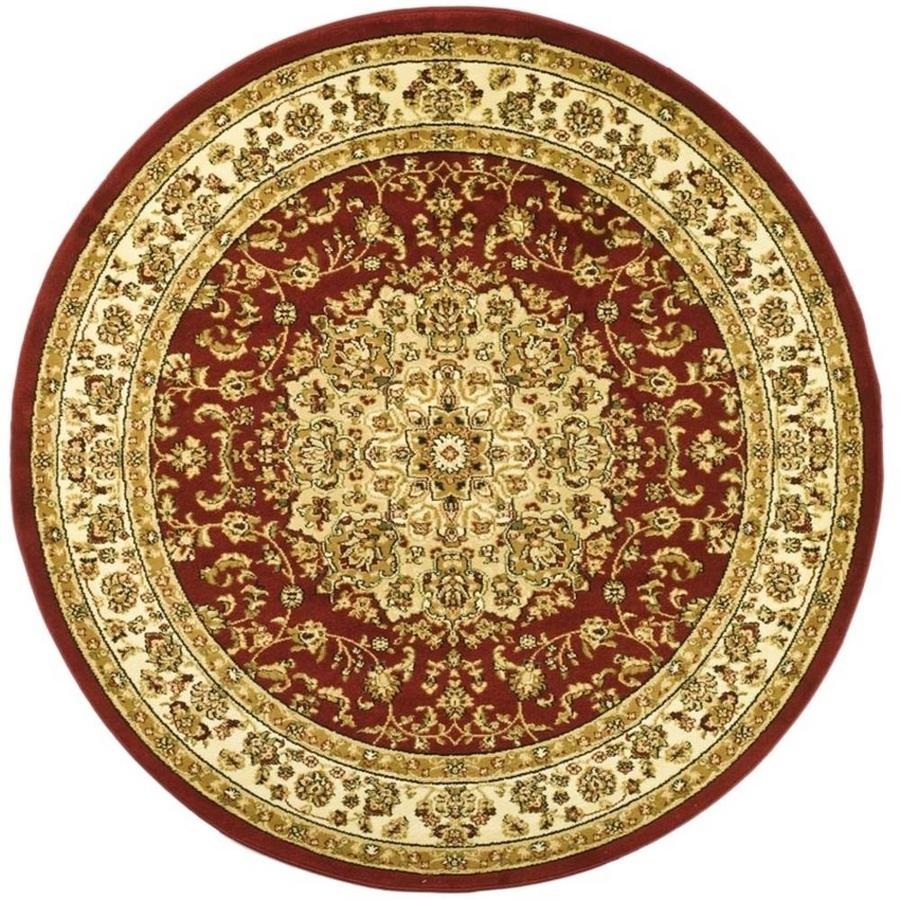 Safavieh Lyndhurst Nain Red/Ivory Round Indoor Machine-made Oriental Area Rug (Common: 5 x 5; Actual: 5.25-ft W x 5.25-ft L x 5.25-ft dia)