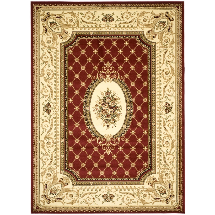 Safavieh Lyndhurst Seville Red/Ivory Indoor Oriental Area Rug (Common: 8 x 11; Actual: 8-ft W x 11-ft L)