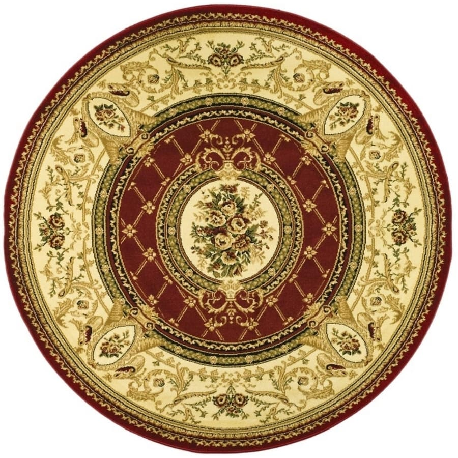 Safavieh Lyndhurst Seville Red/Ivory Round Indoor Oriental Area Rug (Common: 8 x 8; Actual: 8-ft W x 8-ft L x 8-ft dia)